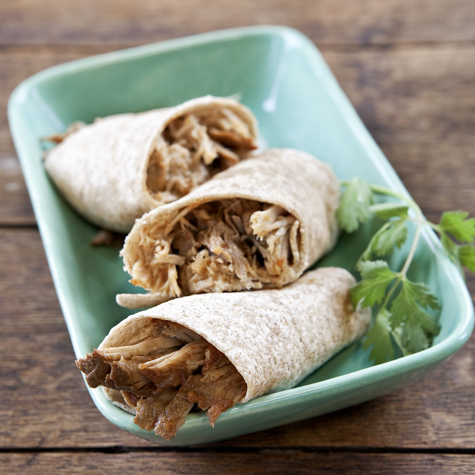 Honey BBQ Shredded Pork Wraps Diabetic Living Magazine