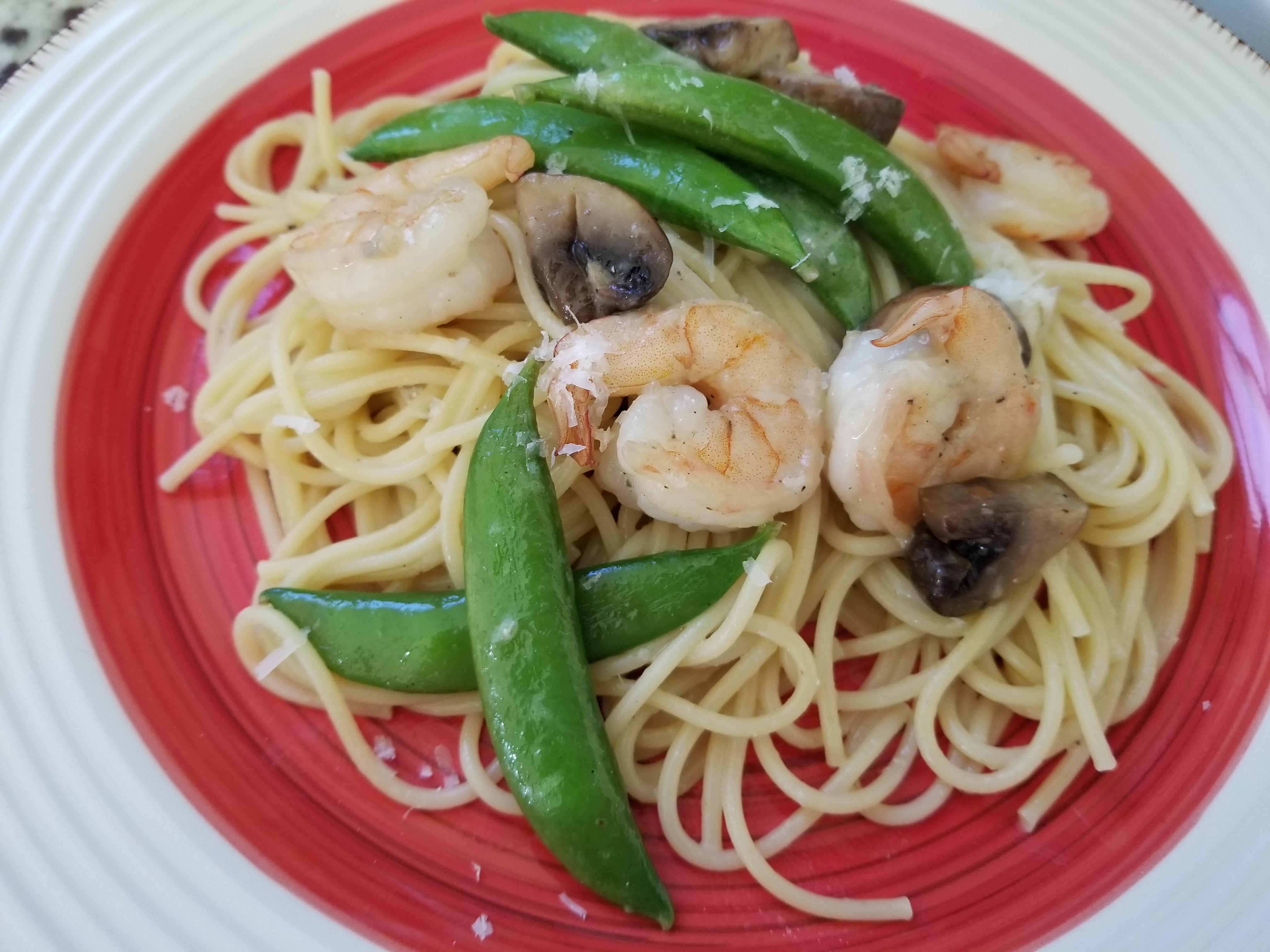 Pasta With Sugar Snap Peas, Parmesan and Mushrooms debbie eckstein