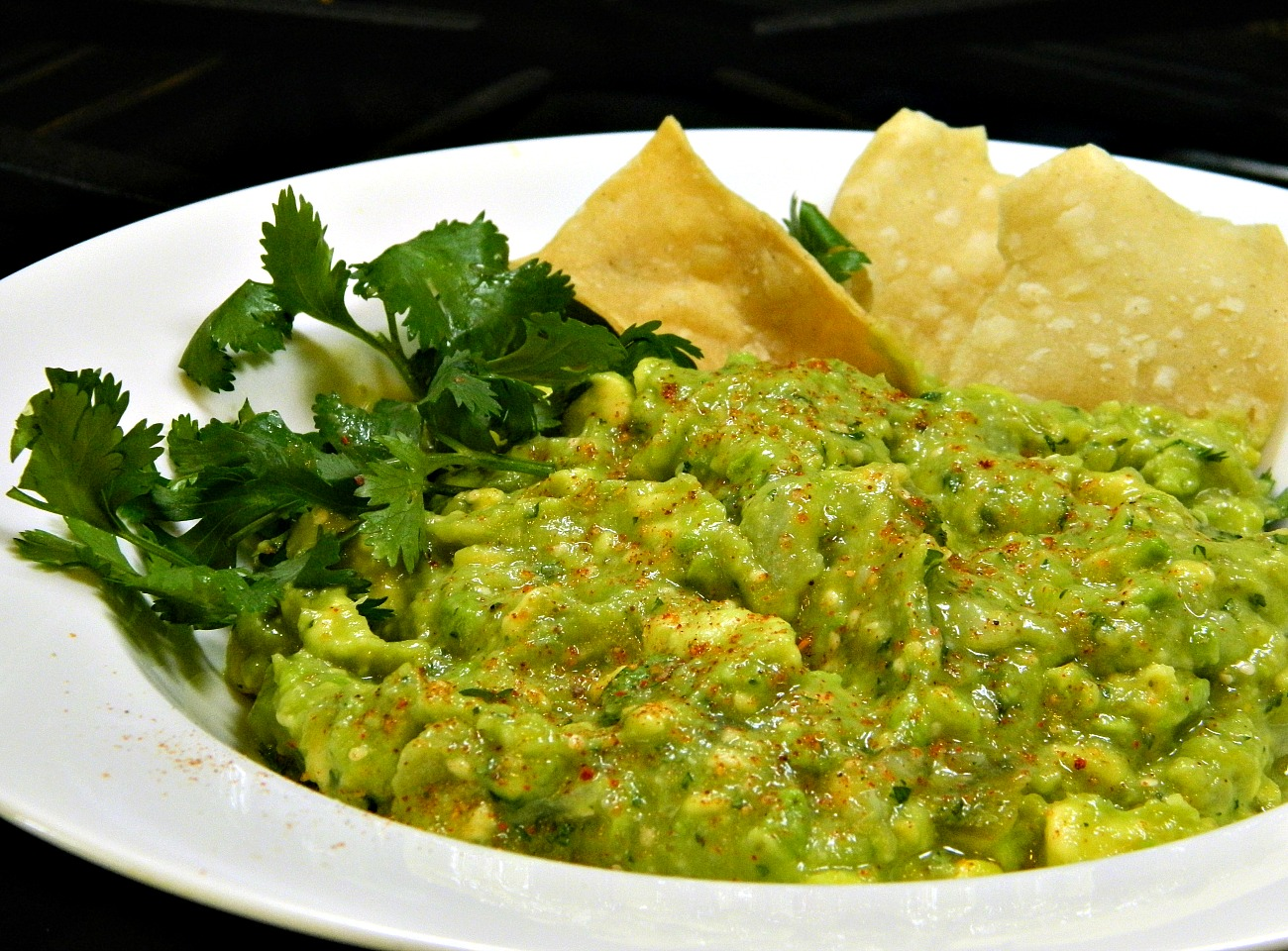 Avocado-Tomatillo Dip with Jalapenos and Cilantro Marianne
