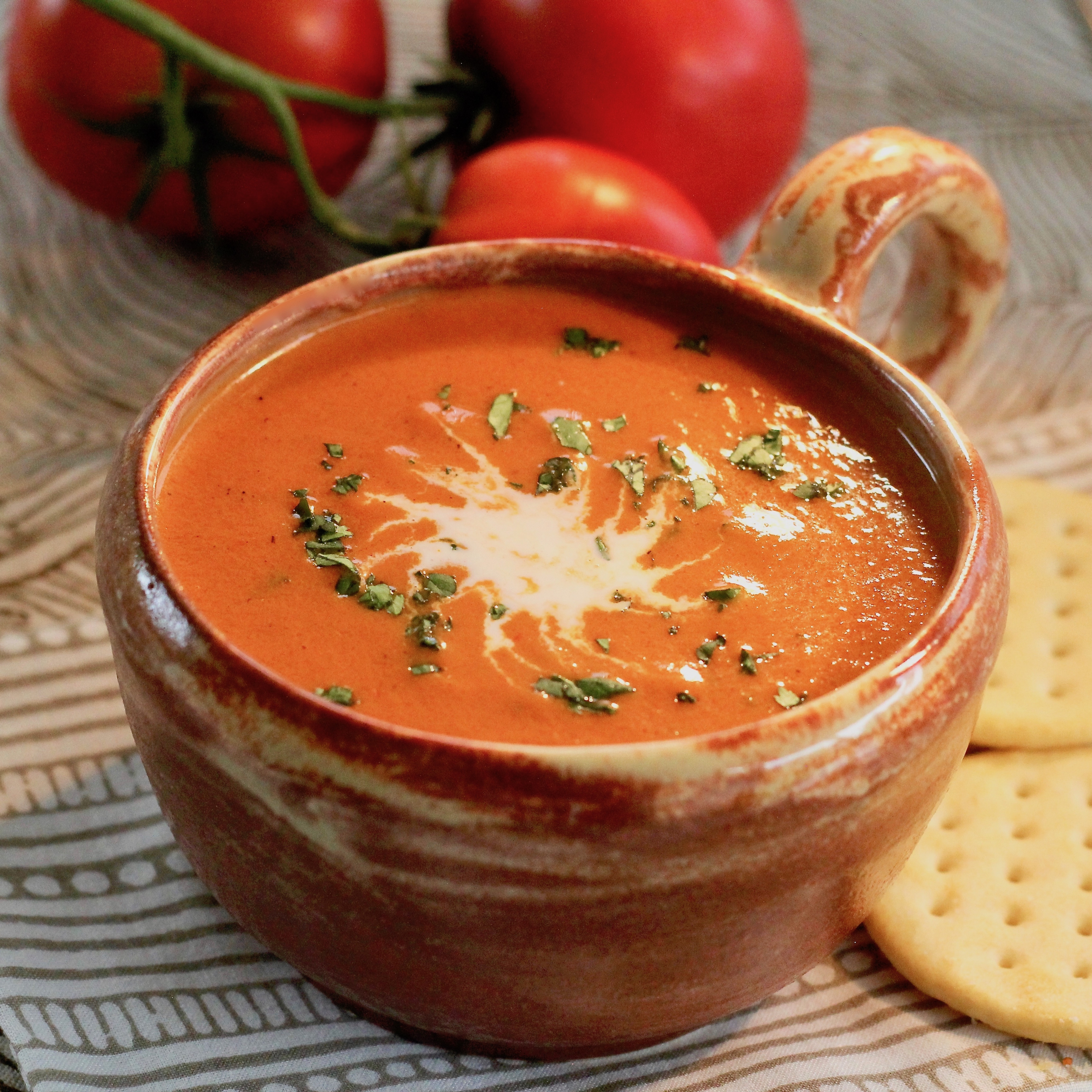 Fire-Roasted Tomato Soup