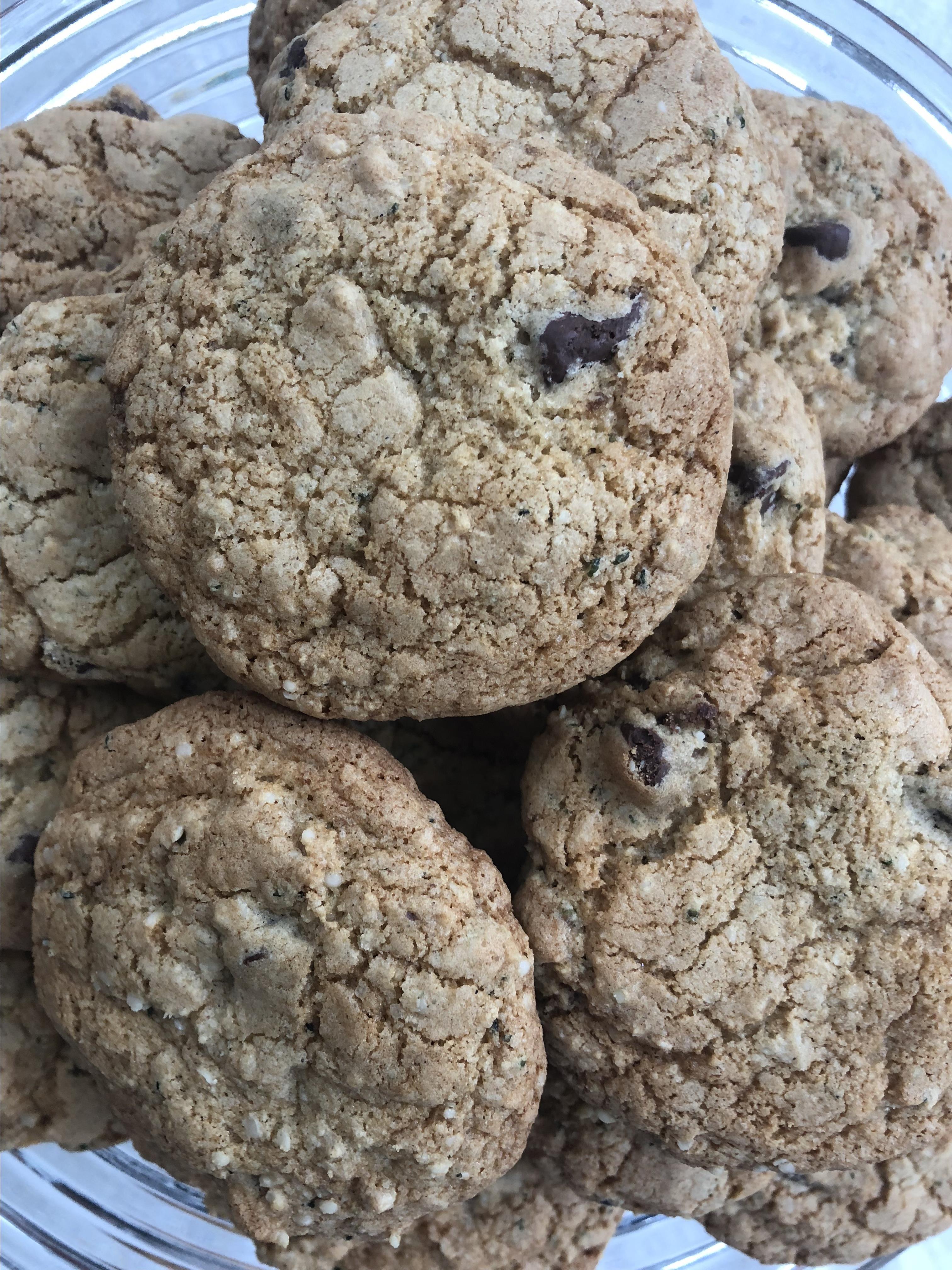Gluten-Free Chocolate Chip Hemp Seed Cookies Christine