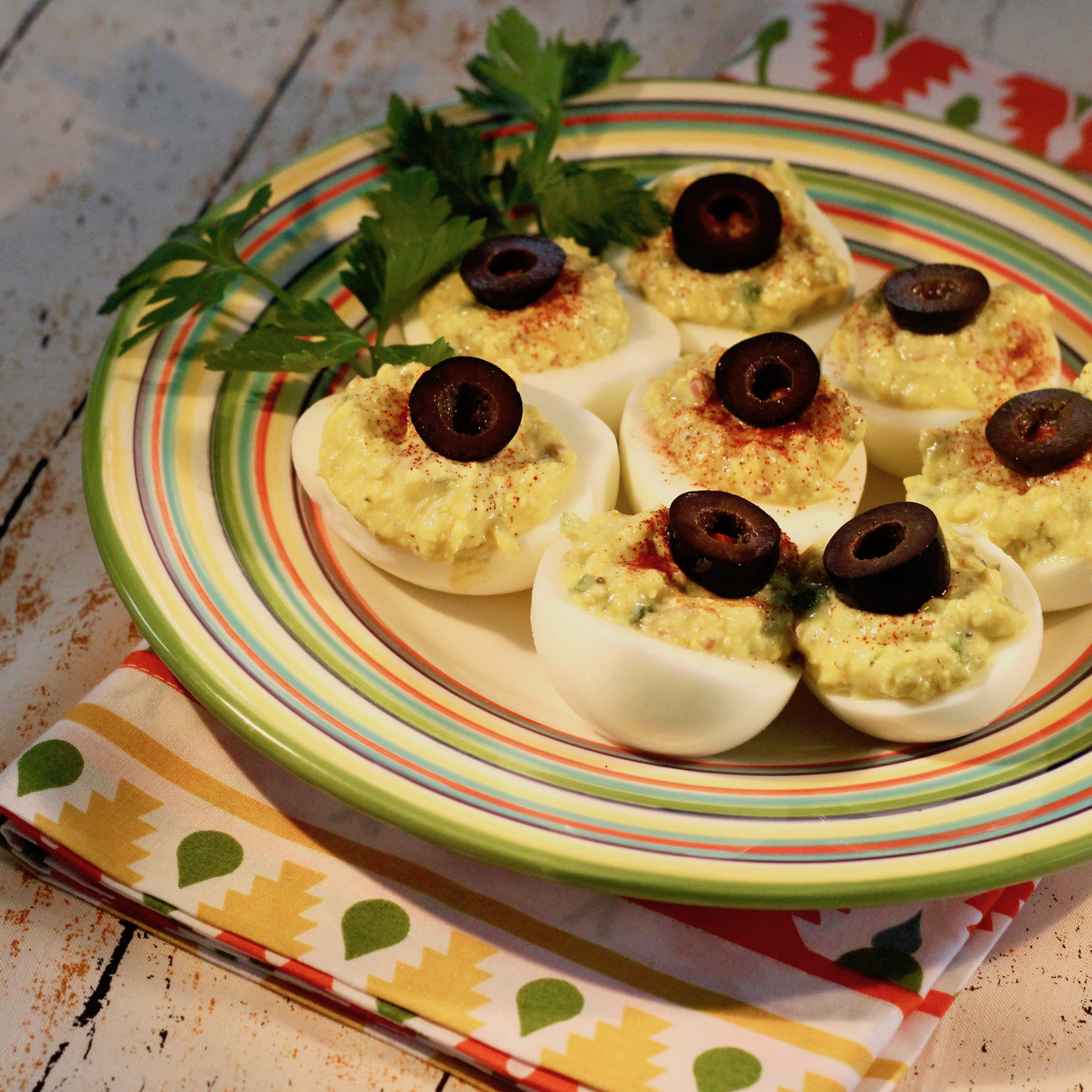 Deviled Eggs - Mexican Devils! lutzflcat