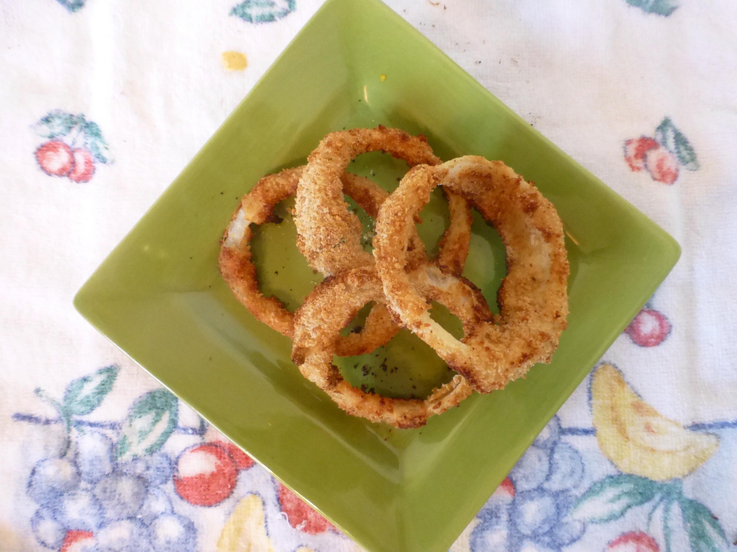 Oven-Baked Onion Rings Rosebud