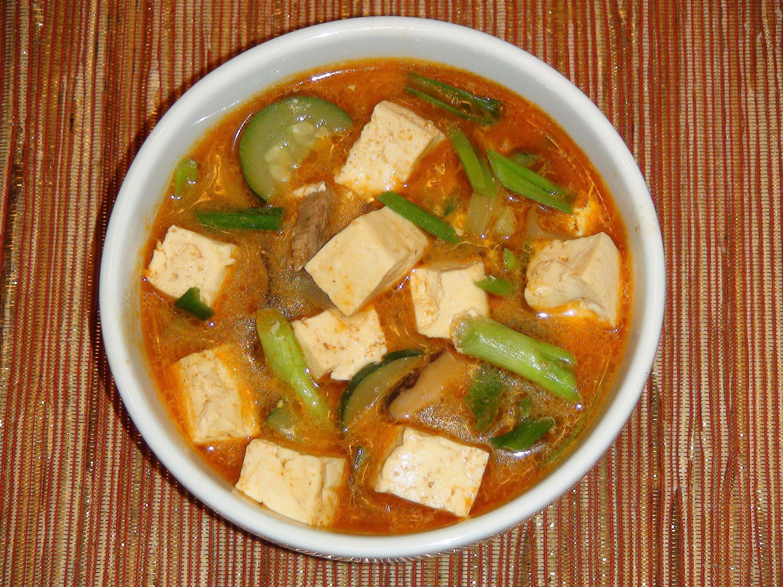 Korean Tofu and Vegetable Soup