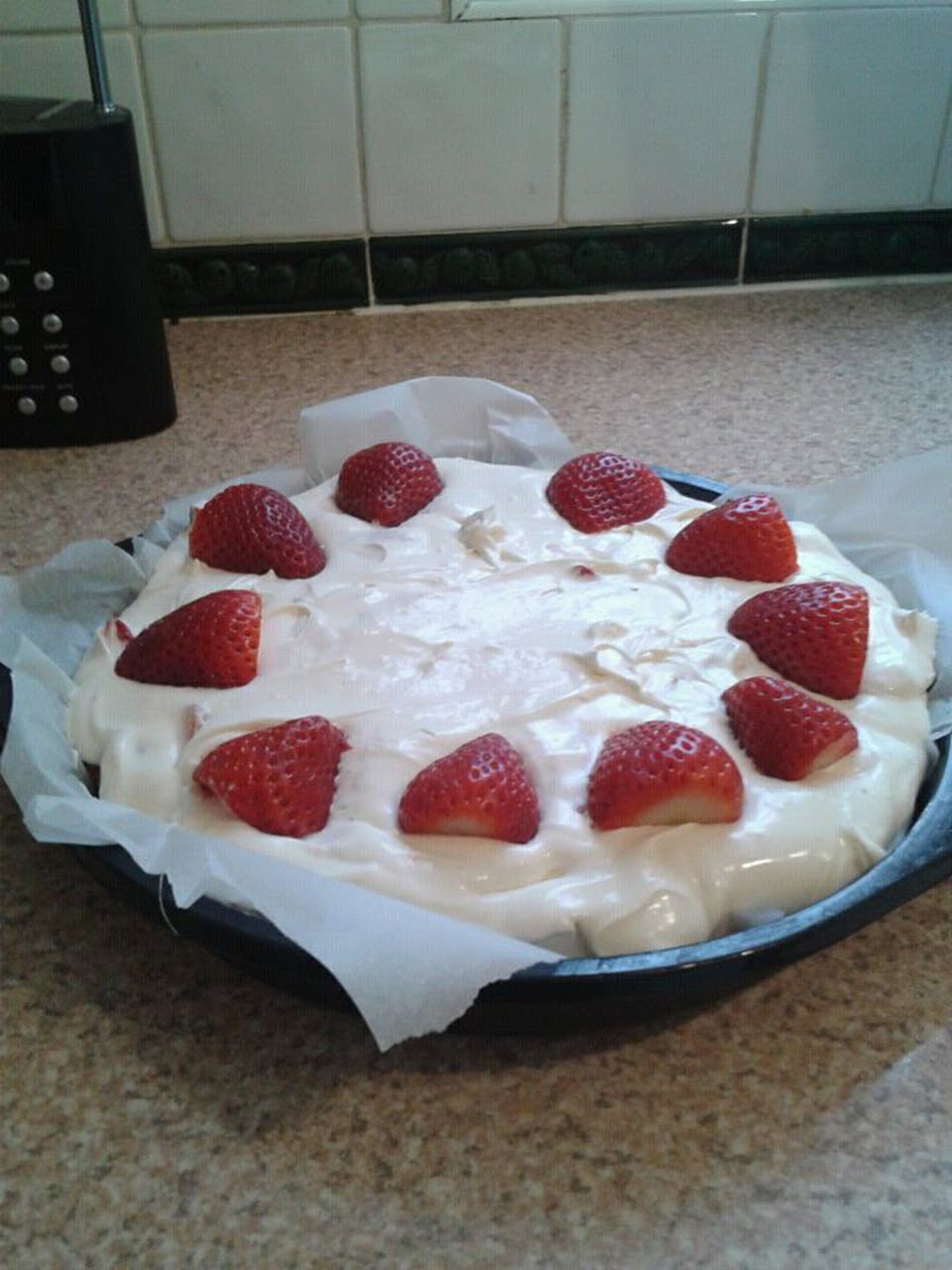 Easy Strawberry Cheesecake