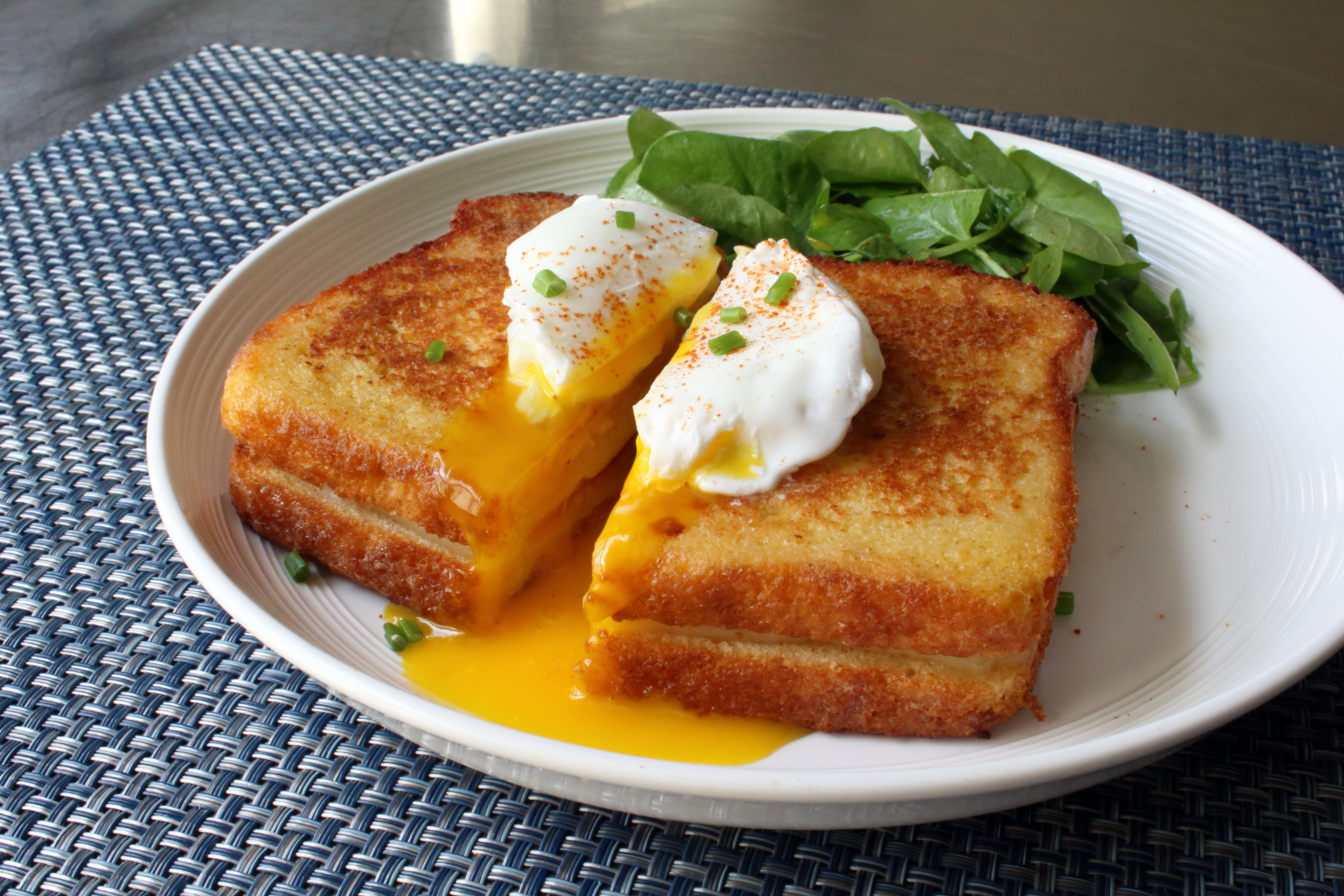 Madame Cristo - Grilled Ham and Cheese