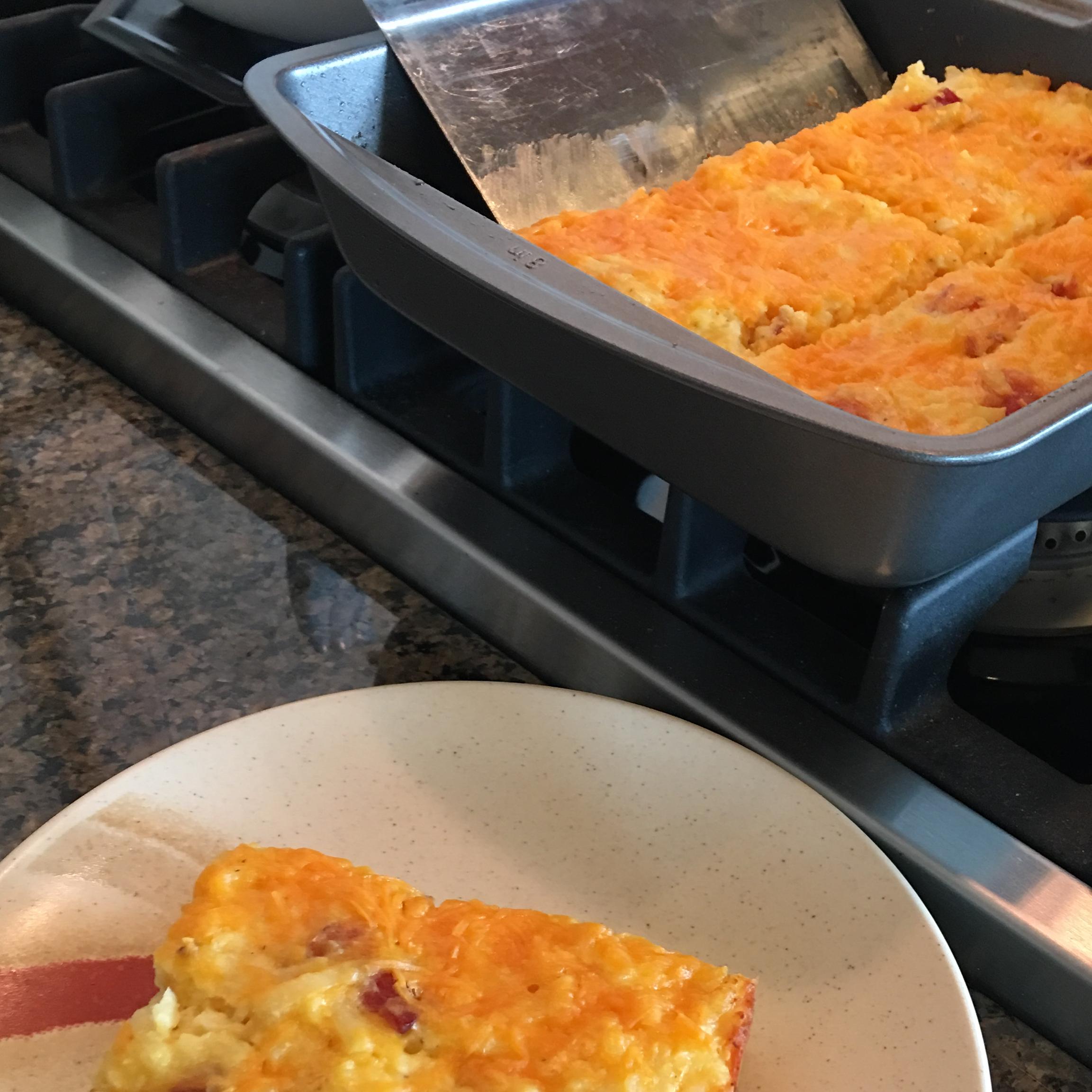 American Breakfast Casserole flason