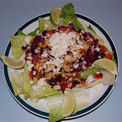 Spicy Southwest Chopped Salad with Salsa Verde Katie Gabel