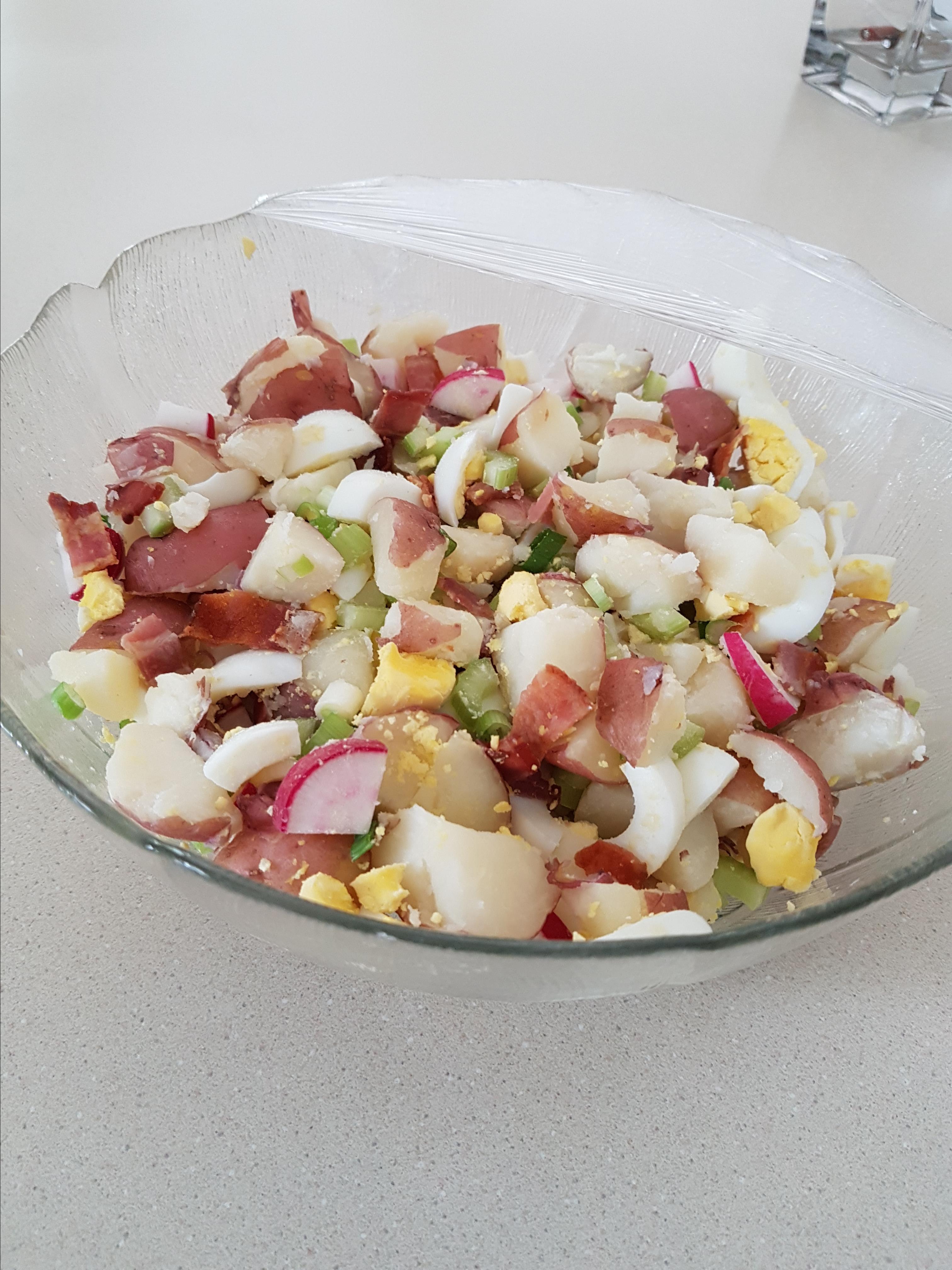 Red Skinned Potato Salad cindersthecat