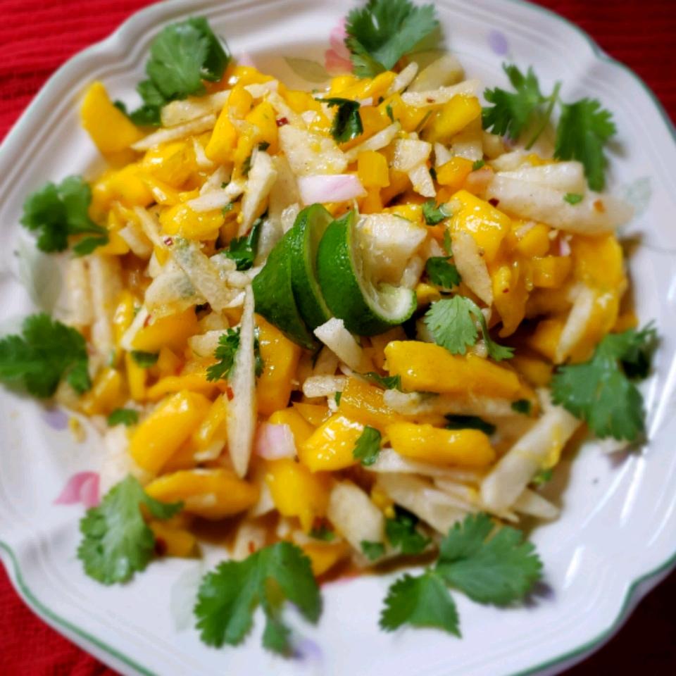 Jicama Mango Salad with Cilantro and Lime
