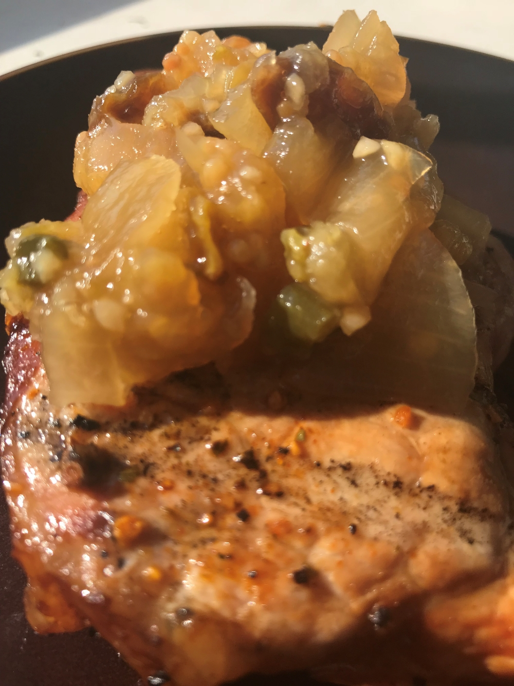 Grilled Pork with Pineapple Chutney