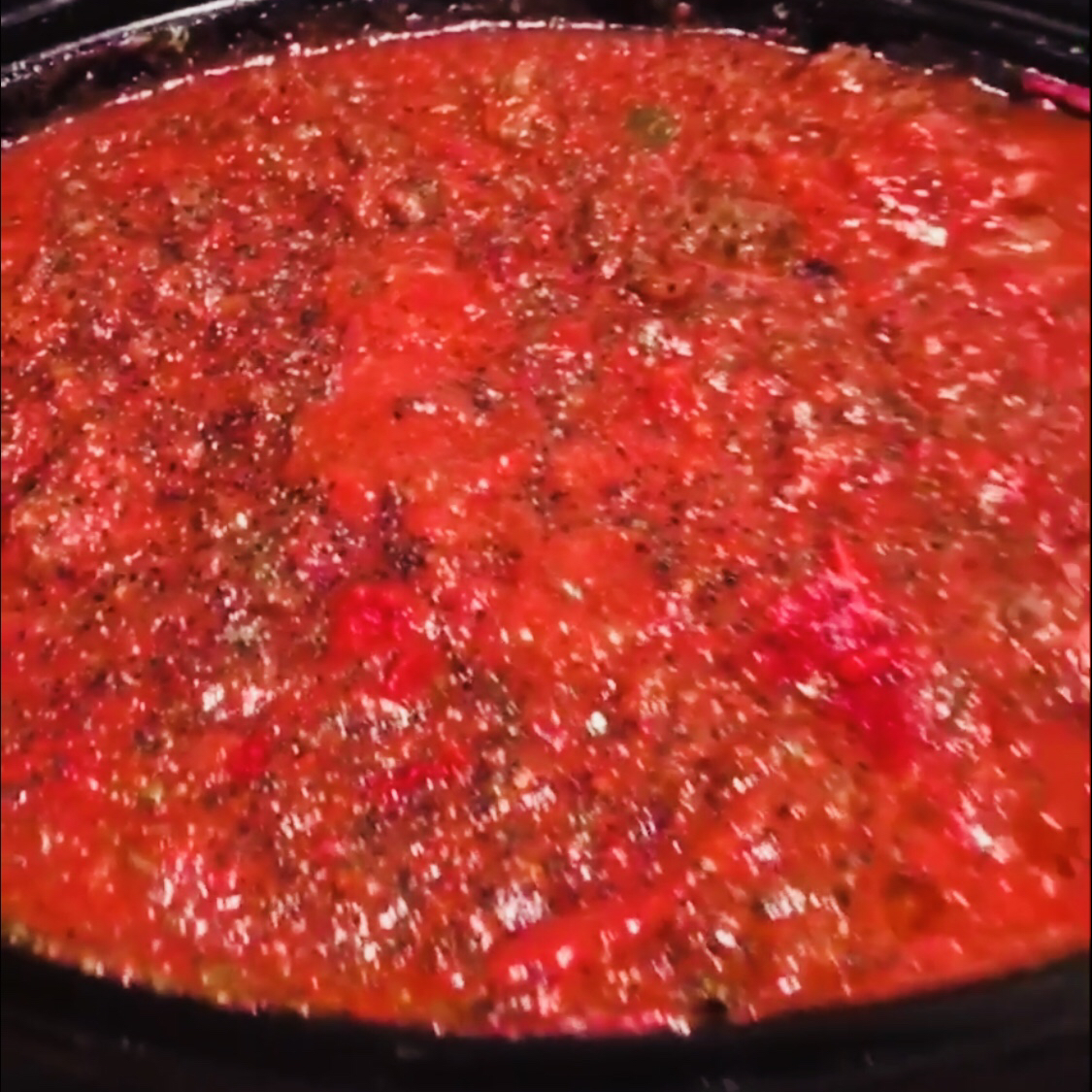 Meat-Lover's Slow Cooker Spaghetti Sauce Lulu Jane