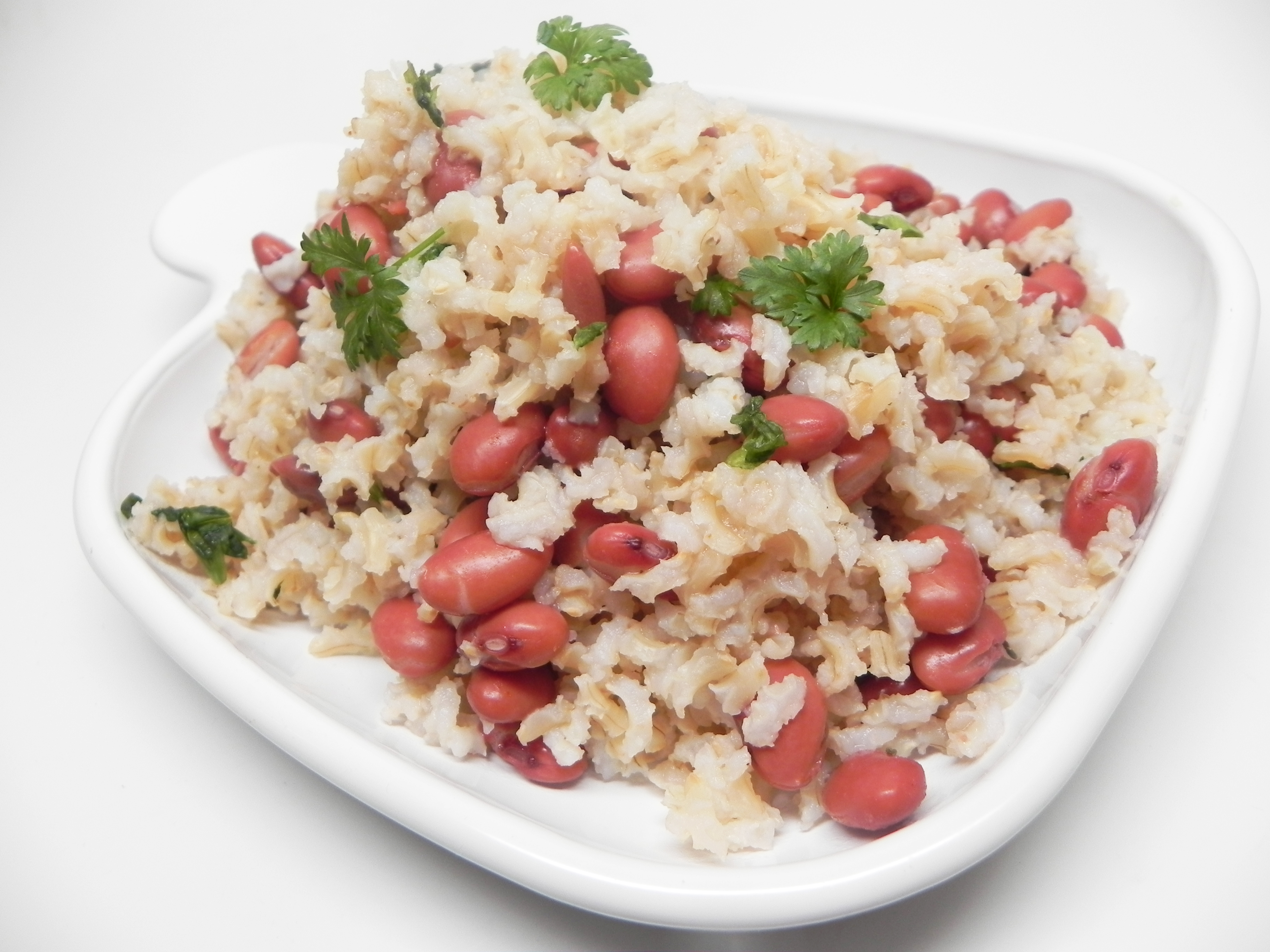 Try this meatless version of red beans and rice kicked up with Creole seasoning. The recipe calls for chicken stock concentrate, but you could easily substitute vegetarian bouillon instead.