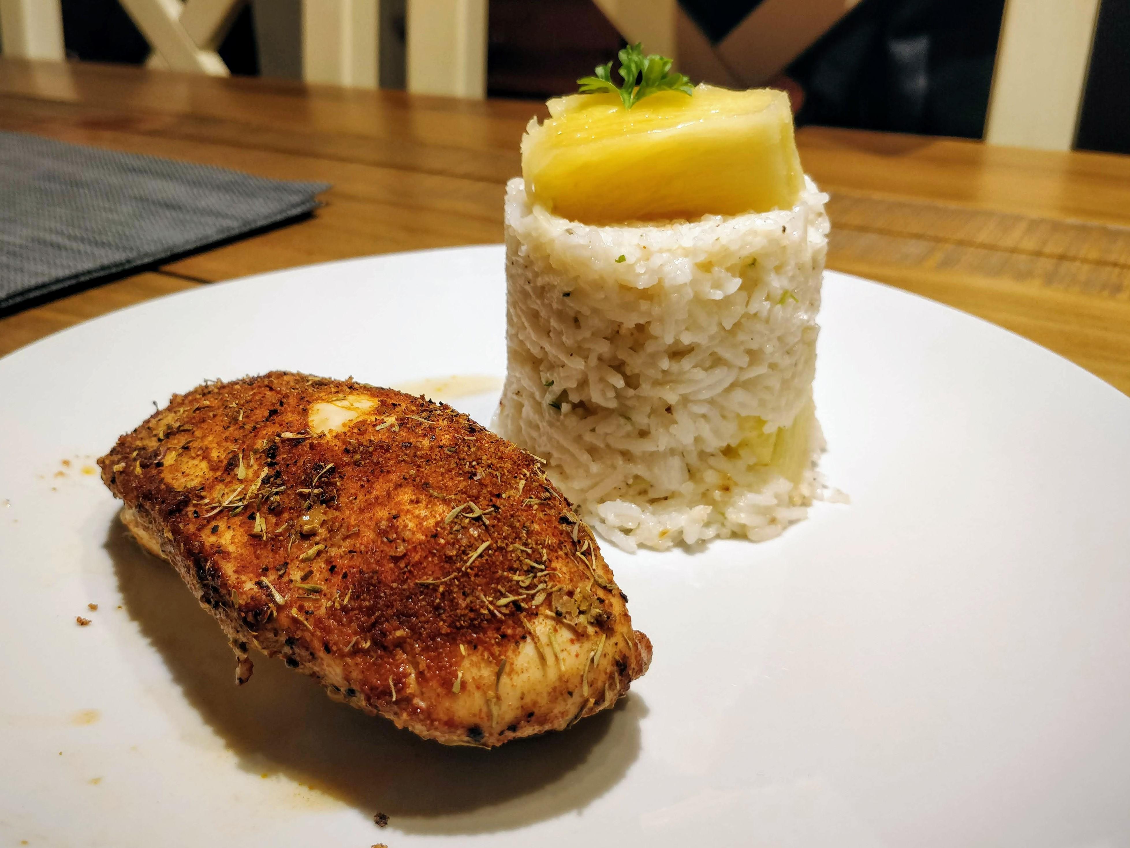 Caribbean Chicken with Pineapple-Cilantro Rice Clara Morice