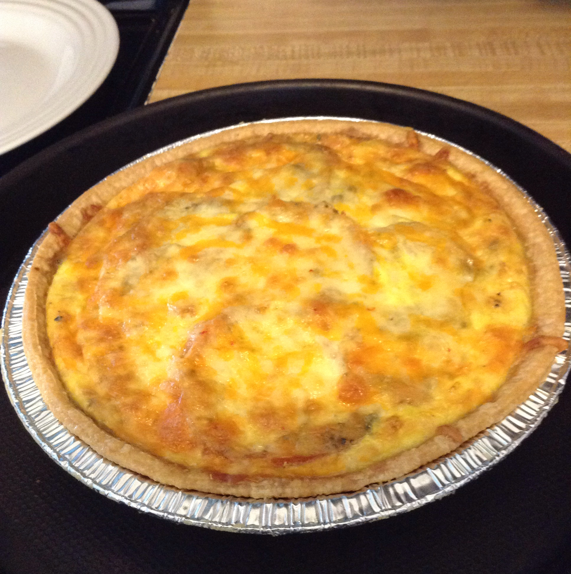 Loaded Vegetarian Quiche Leighloo