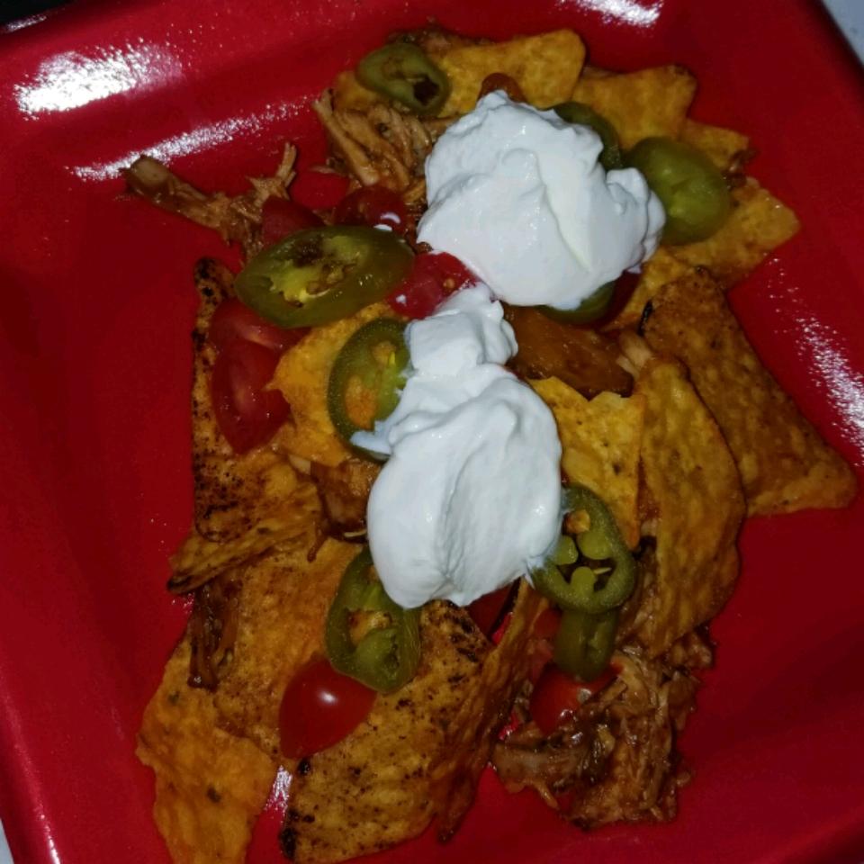 Loaded BBQ Chicken Nachos Recipe veronica white