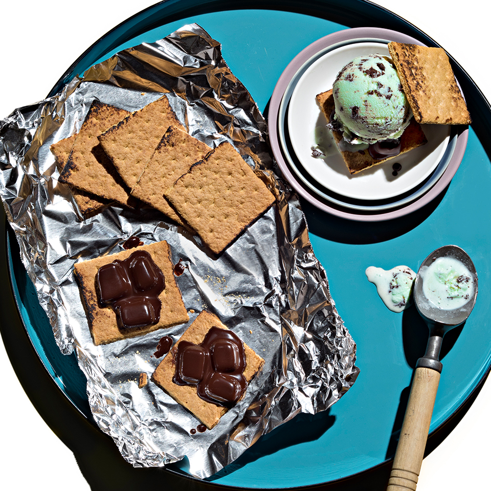 Grilled S'mores Ice Cream Sandwiches from Reynolds Wrap®