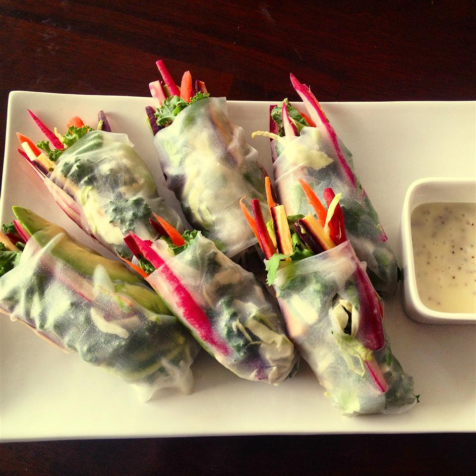 Rice Paper Veggie Wraps