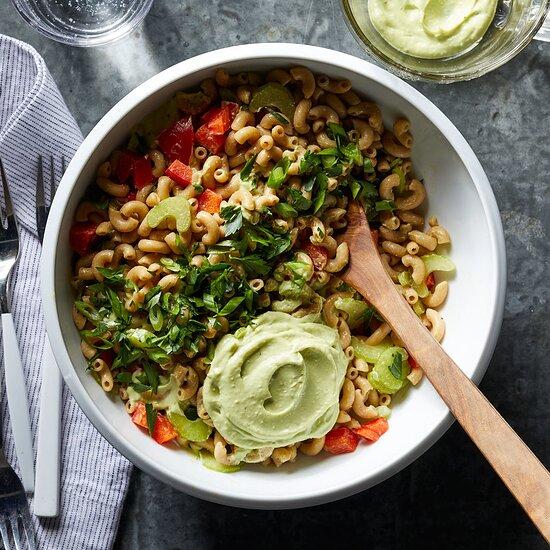 Macaroni Salad with Creamy Avocado Dressing Carolyn Casner
