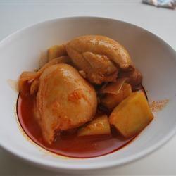 Korean Spicy Chicken and Potato (Tak Toritang) kissyblowfish