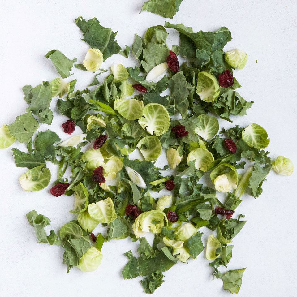 Power Greens Salad with Kale & Brussels Sprouts Lauren Grant