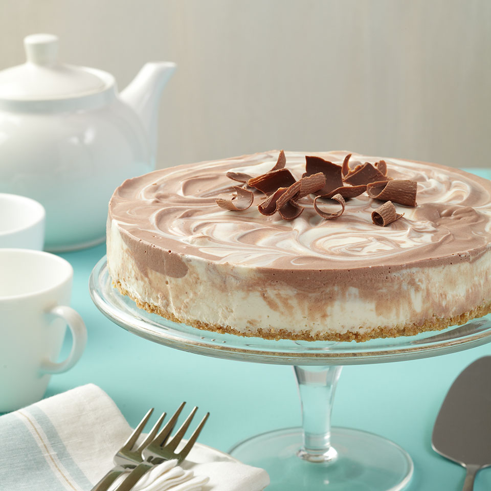 No-Bake Chocolate Swirl Cheesecake Trusted Brands