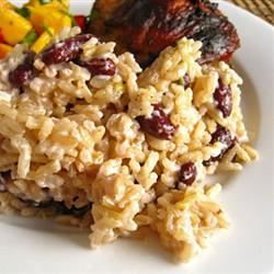 Jamaican Beans and Rice Dish