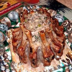 Stuffed Crown Roast of Pork Heather