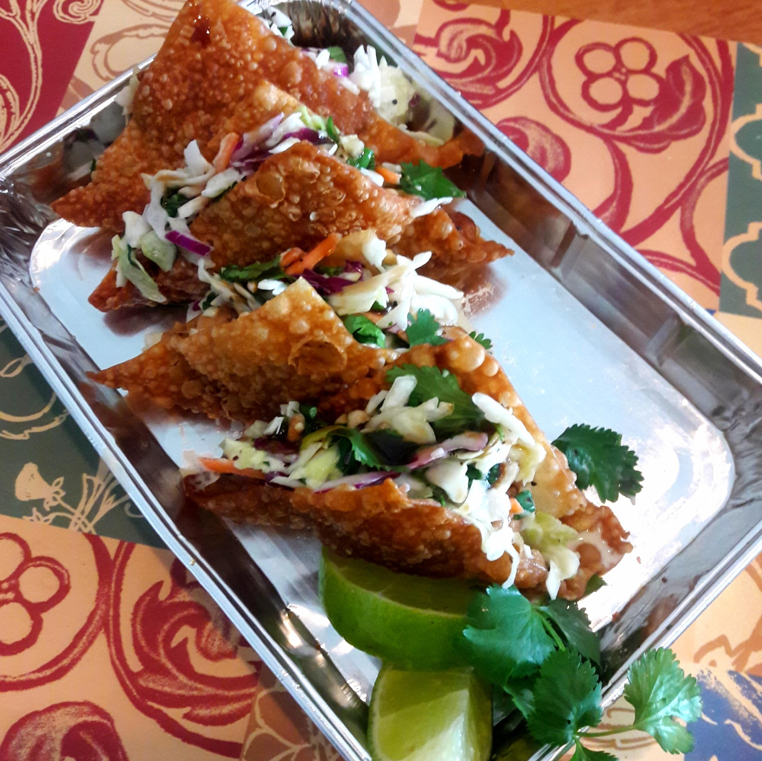 Chicken Wonton Tacos Victoria Harvis