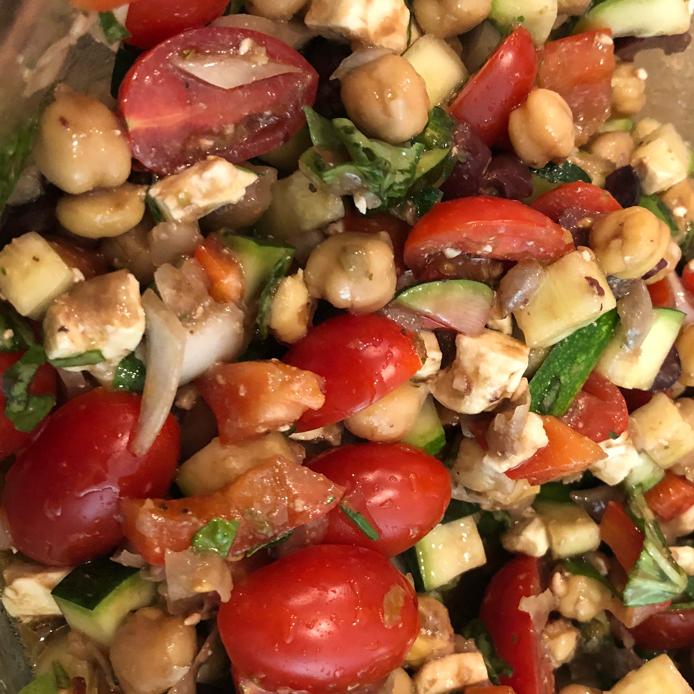 Mediterranean Zucchini and Chickpea Salad