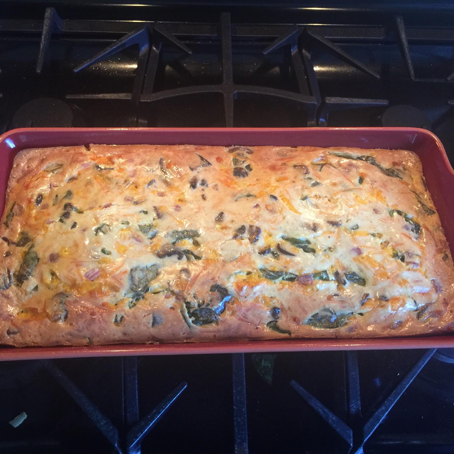 Simple Crustless Spinach and Mushroom Quiche Beth Zillner- Gunier