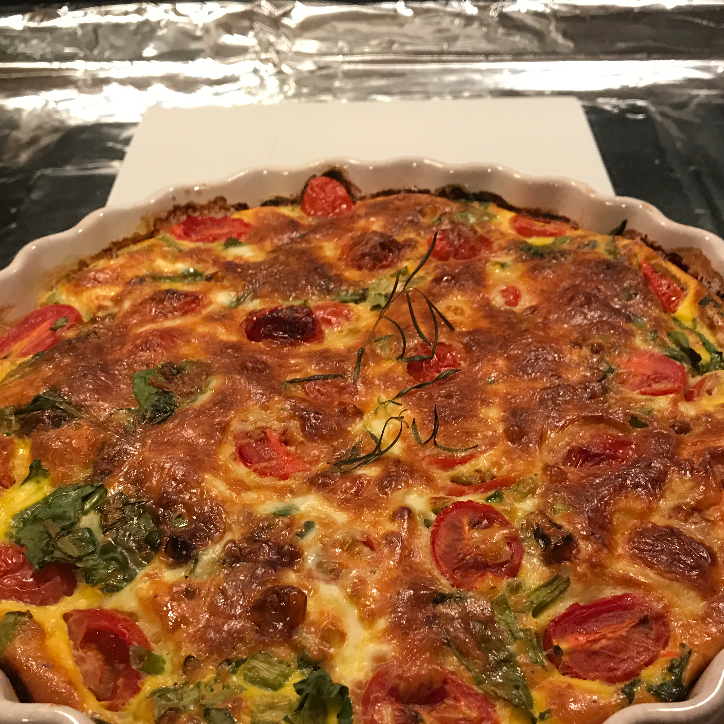 Quiche with Kale, Tomato, and Leek