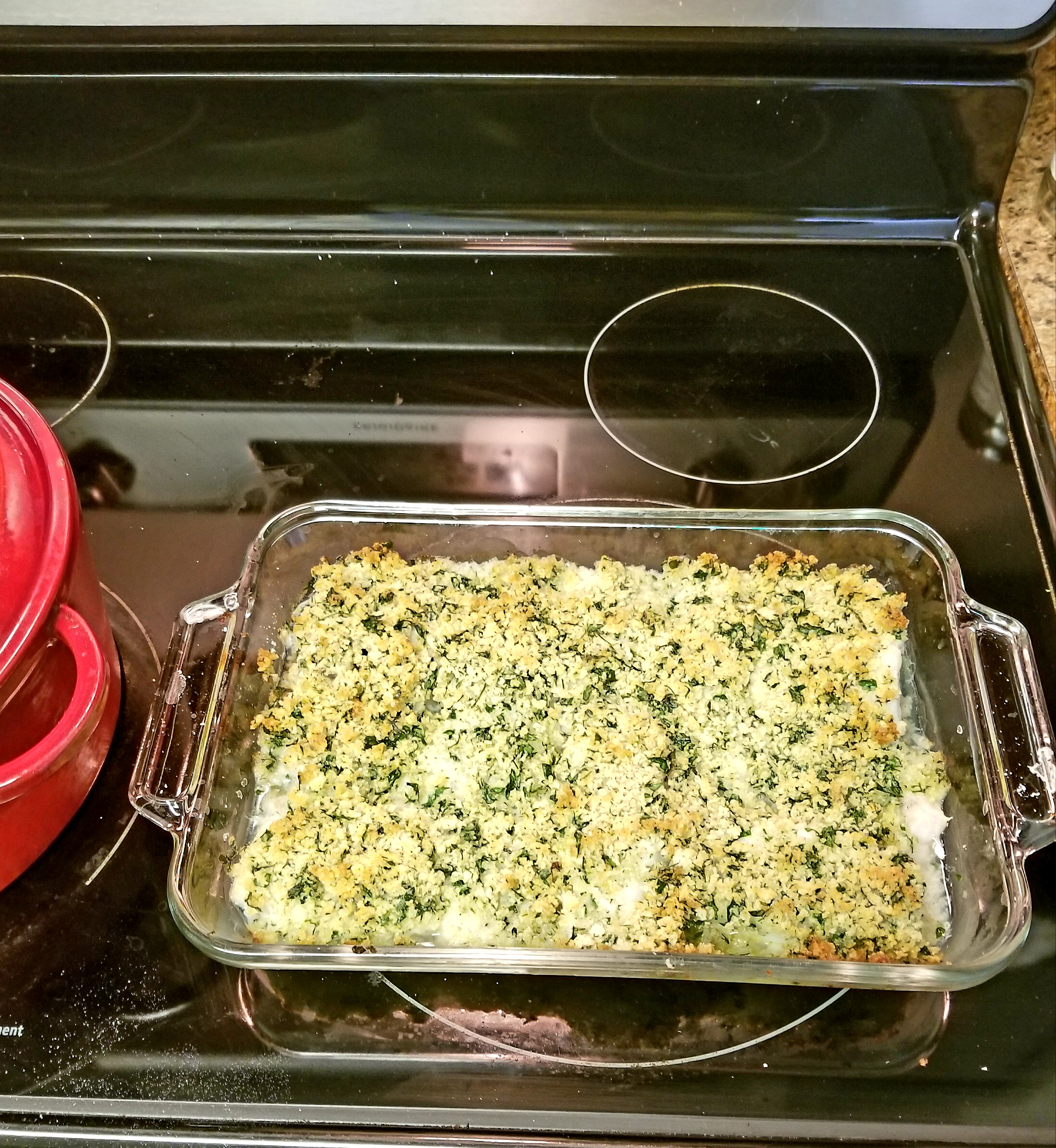 Oven-Baked Cod with Bread Crumbs Hope P.