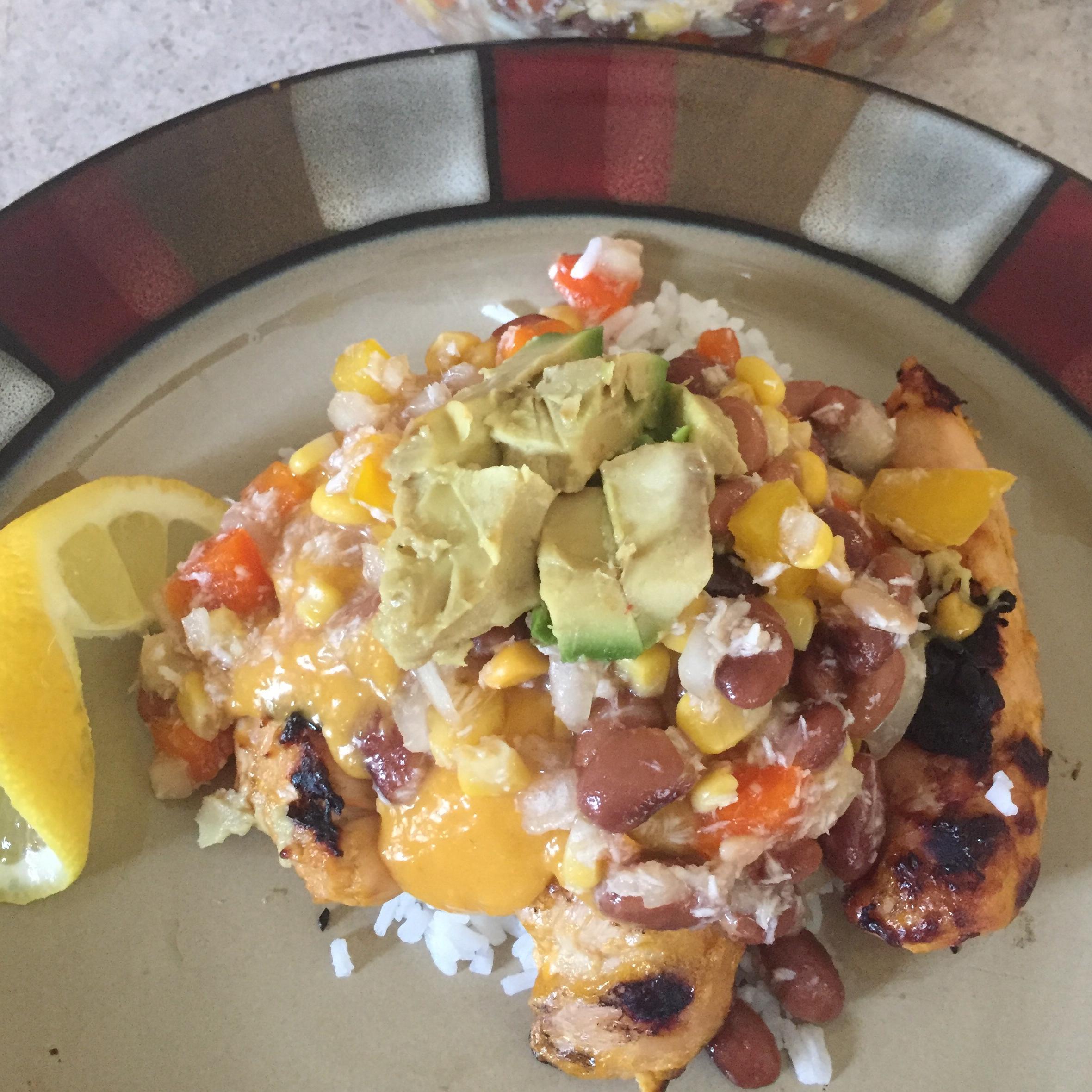 Mango Chicken Meal Prep Bowls amanda loesch