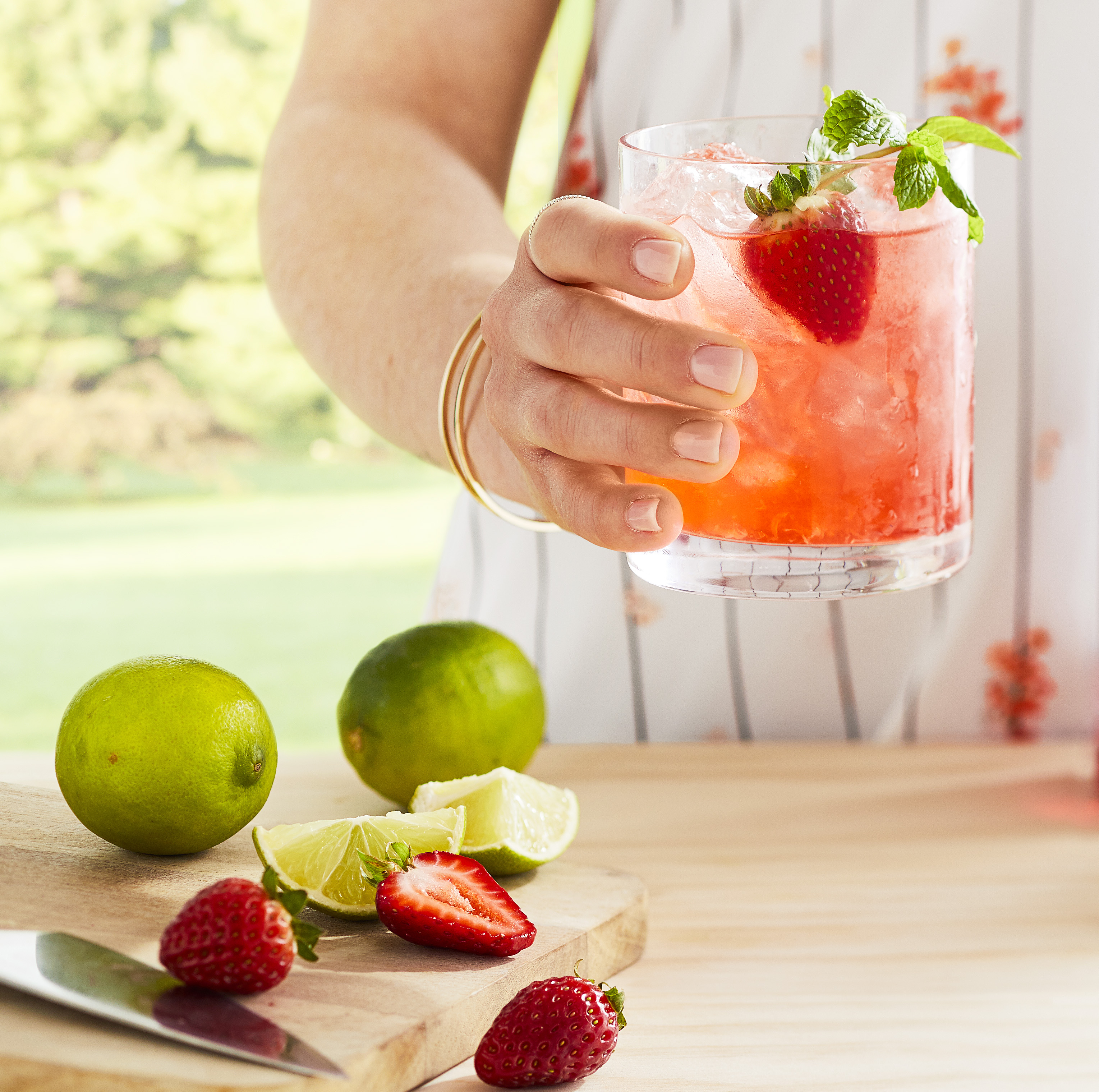 Summertime Strawberry Mojito