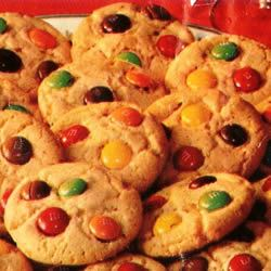 Candy-Coated Milk Chocolate Pieces Party Cookies mammaw