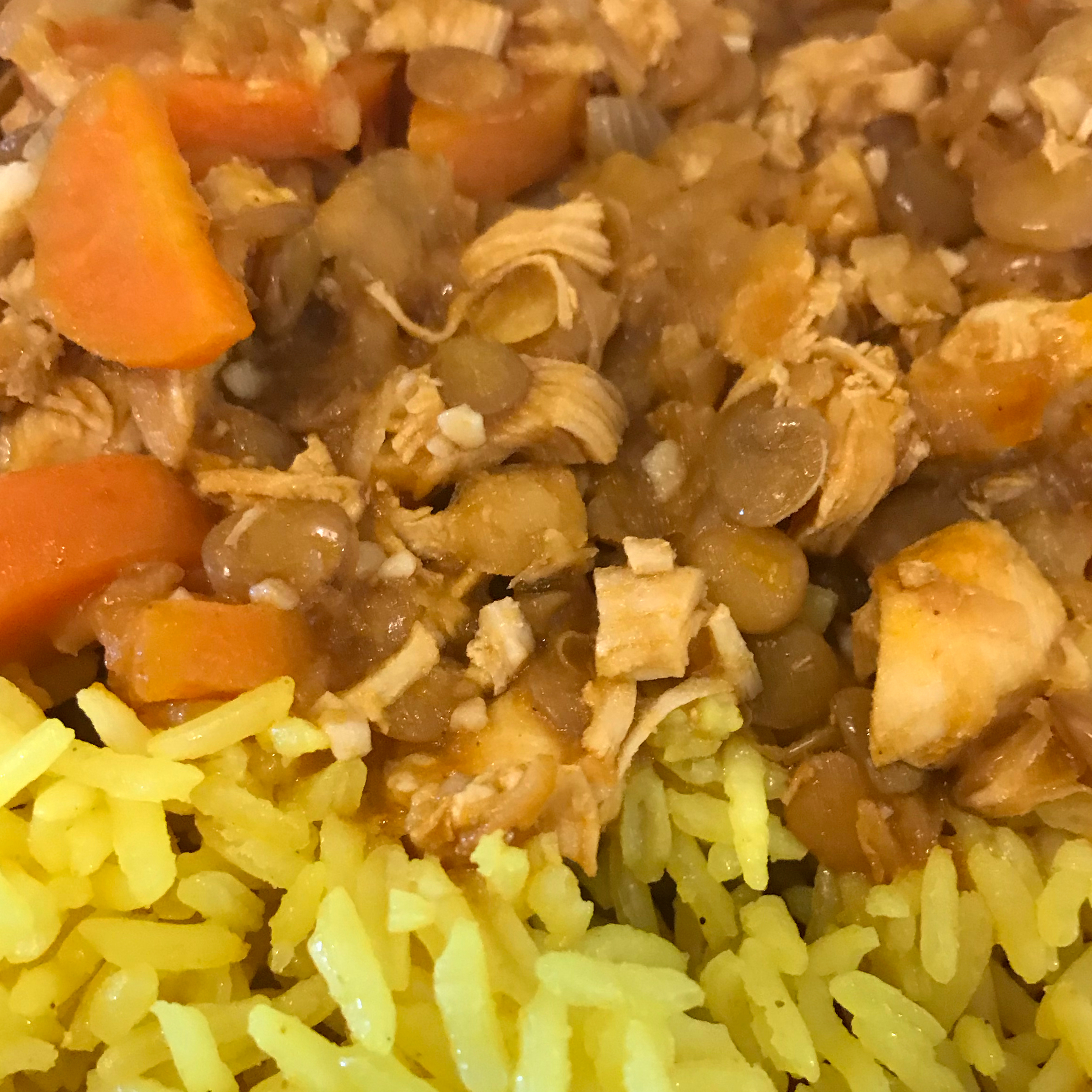 Chicken and Lentils TheSexyCook