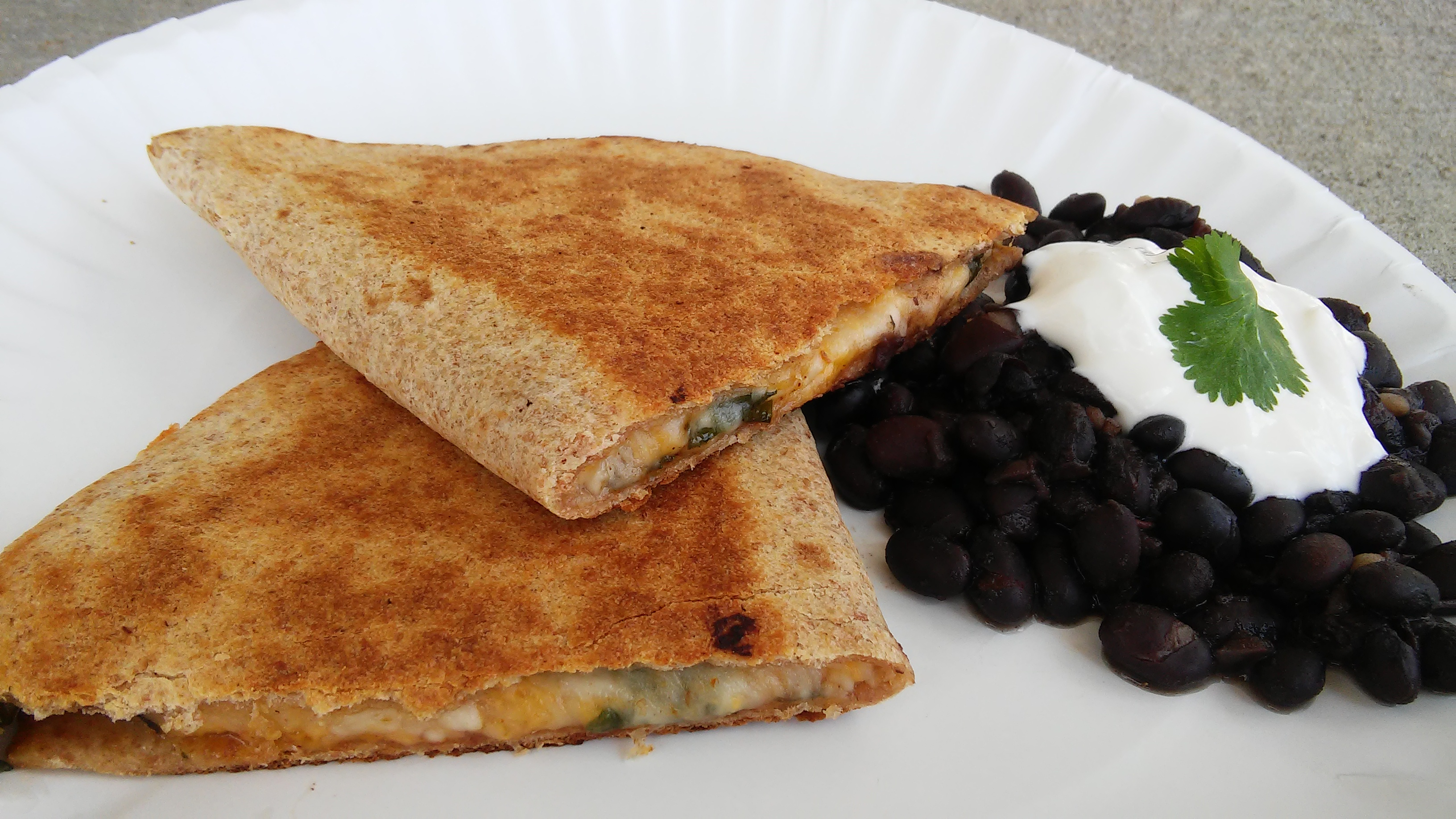 Spinach Whole Wheat Quesadillas Tammy Lynn
