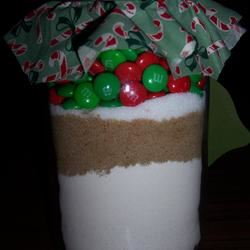 Candy-Coated Chocolates Cookie Mix In A Jar chef_sara