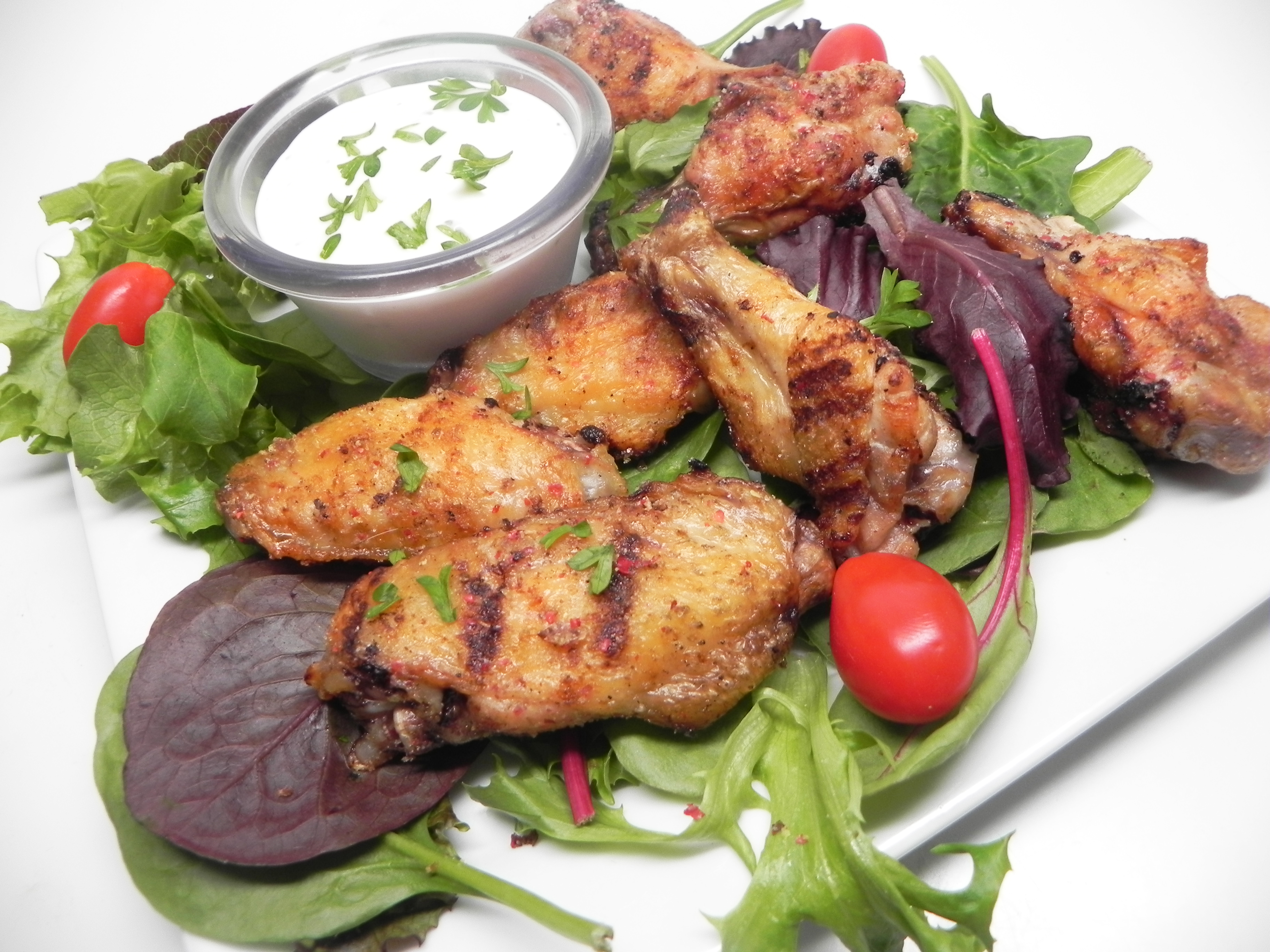 Salt and Pepper Grilled Chicken Wings witchywoman