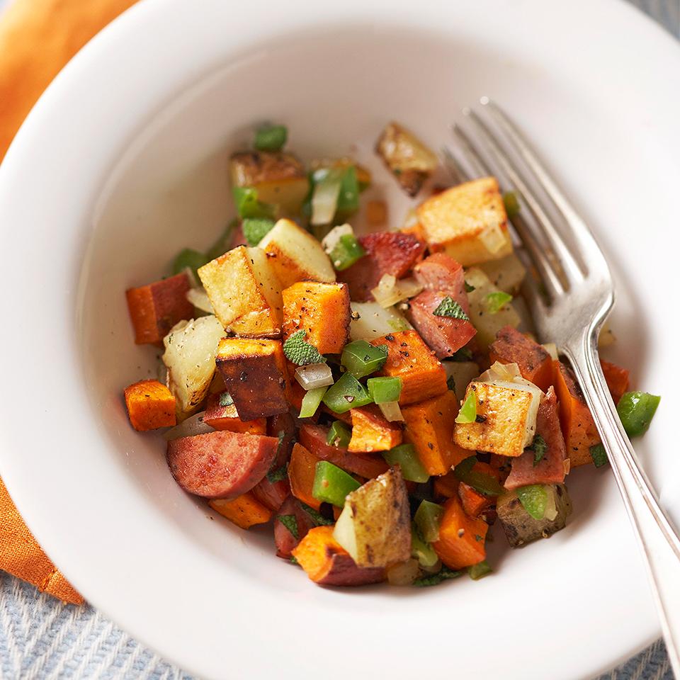 Sweet Potato and Turkey Sausage Hash Diabetic Living Magazine