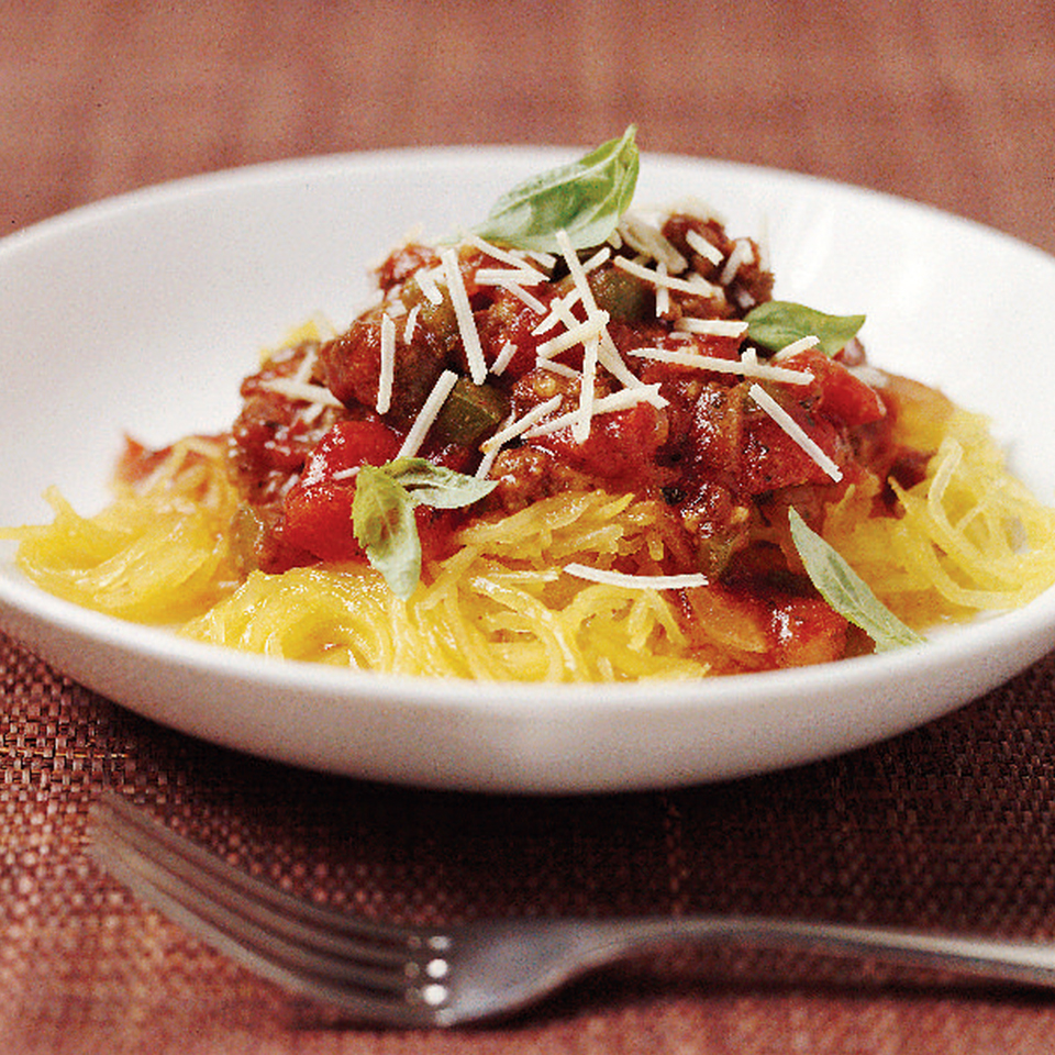 Spaghetti Squash with Chunky Tomato Sauce Allrecipes Trusted Brands