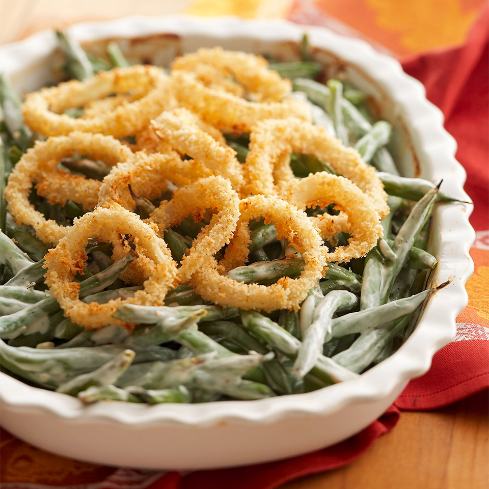Green bean casserole doesn't have to be just a Thanksgiving treat; in under 30-minutes you can enjoy this dish any time of year.