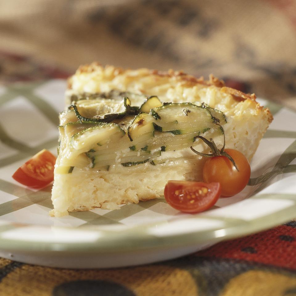 Zucchini and Swiss Pie Diabetic Living Magazine