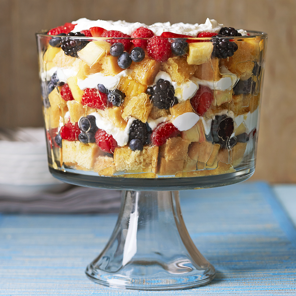 What could be more elegant than champagne-soaked trifle made with real vanilla beans? Impress your guests with this easy-to-make dessert.