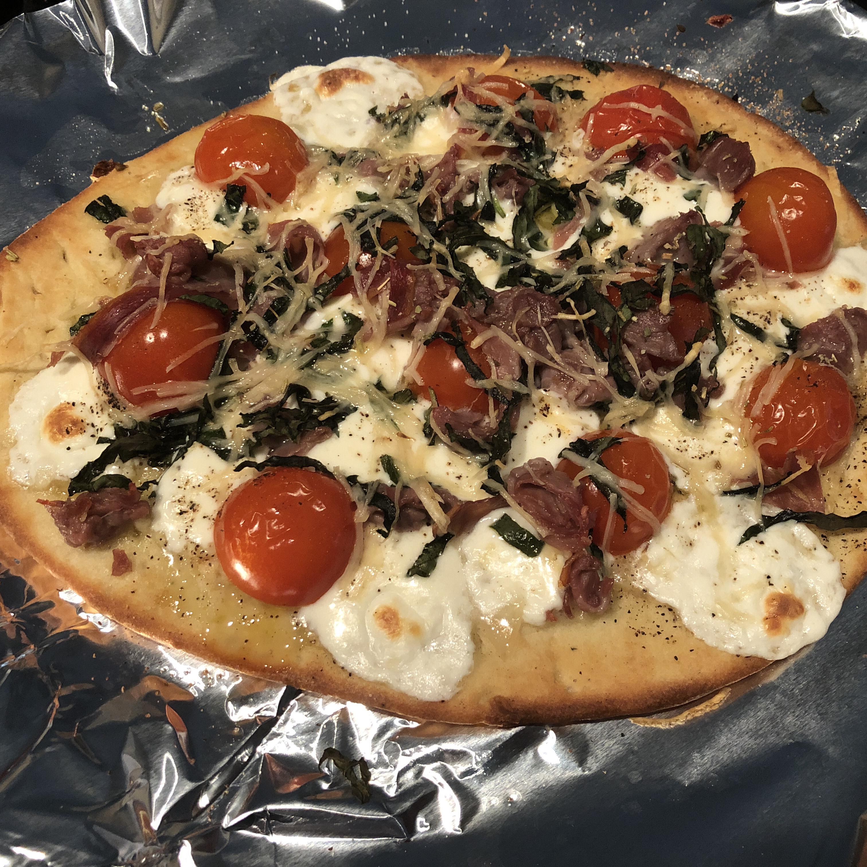Naan Bread Margherita Pizza with Prosciutto jrcurtis78