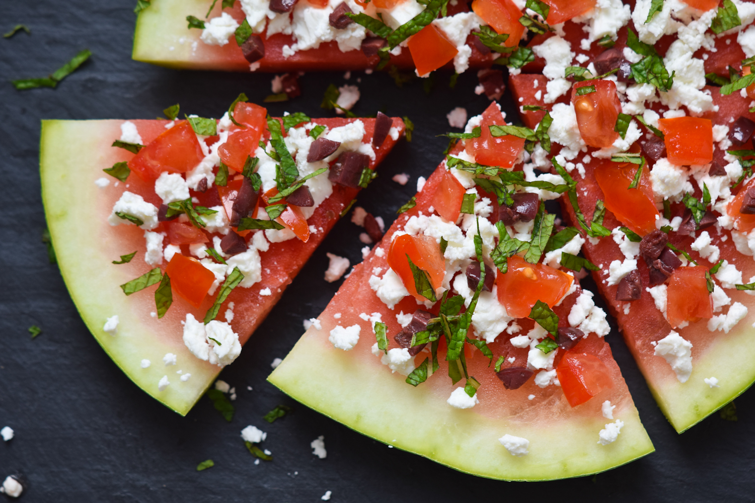 Greek Watermelon Pizza Katherine Martinelli
