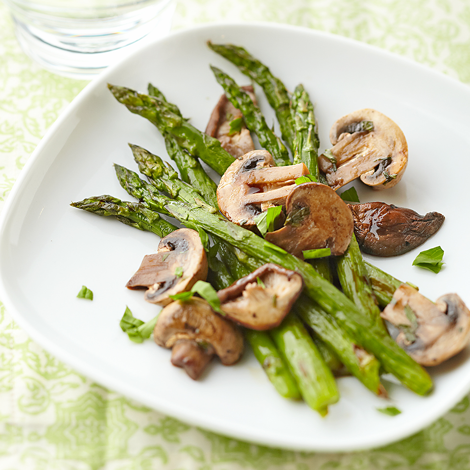 Asparagus and Wild Mushrooms Diabetic Living Magazine