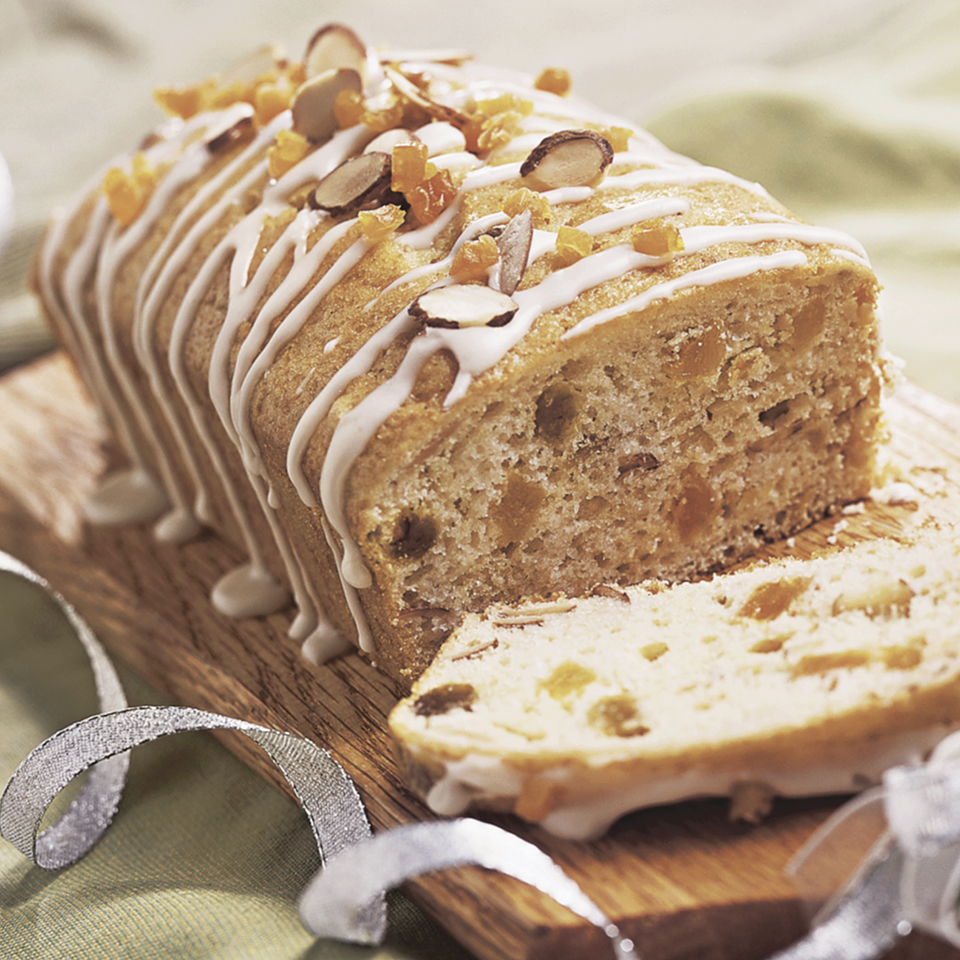 This quick bread--flavored with brandied apricots and almonds and topped with an apricot drizzle--makes a great snack during the holidays.