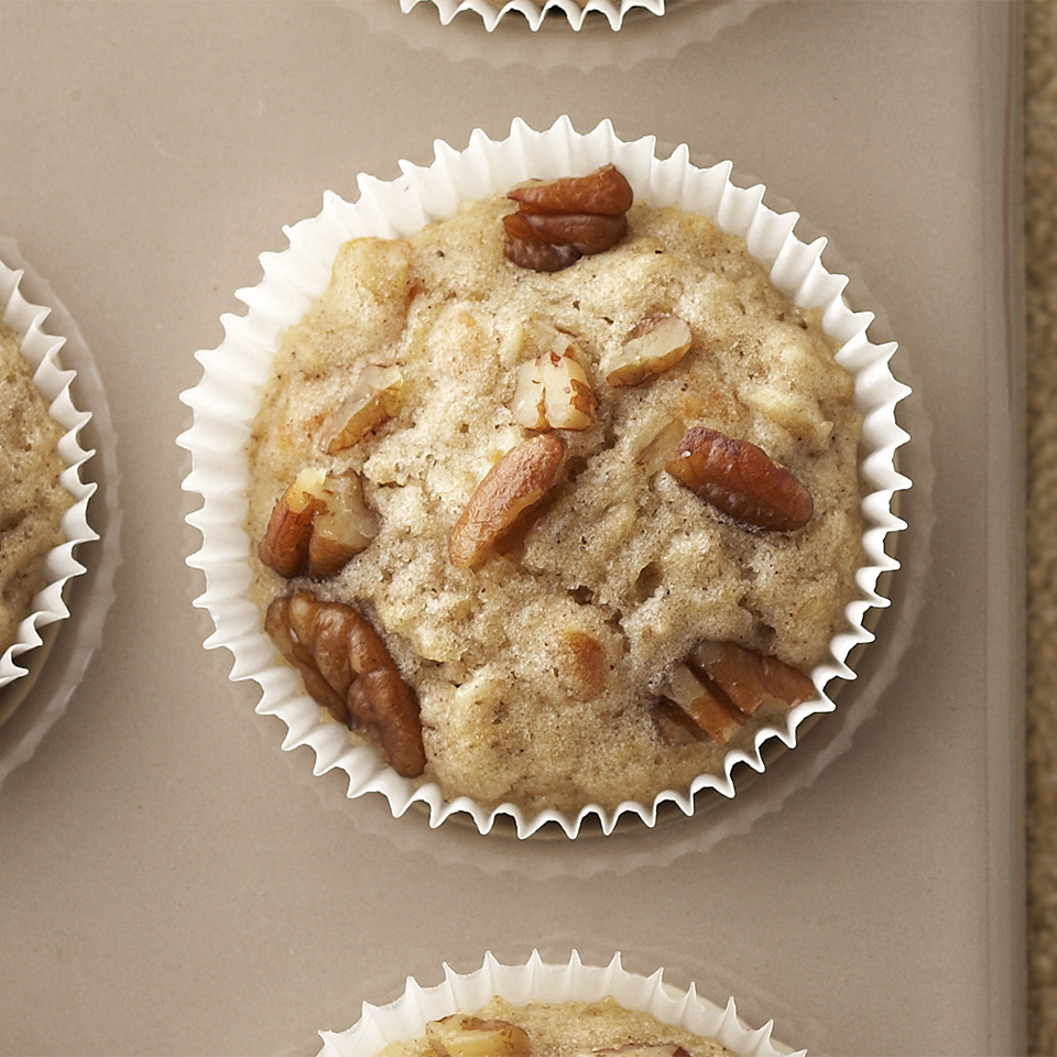 Apricots, oats, pecans, and a touch of allspice are a winning combination in these easy-to-make muffins. Source: Diabetic Living Magazine